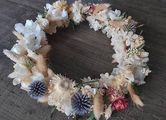 Sirius couronne murale en fleurs séchées, stabilisées