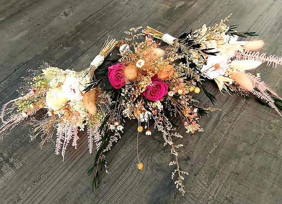 Bouquet Cocoon fleurs séchées et stabilisées
