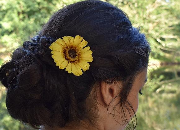 Gerbera naturel stabilisé à piquer dans vos cheveux