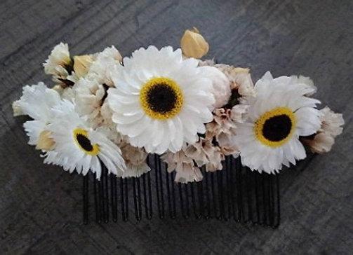 Peigne Diane en fleurs séchées