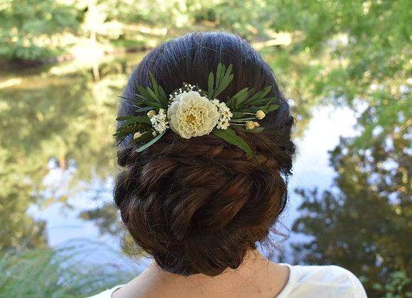 Azalie peigne de mariage en fleurs intemporelles stabilisées pour vos jolies coi