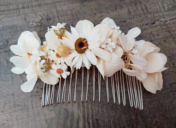 Peigne Flavie en fleurs séchées et stabilisées