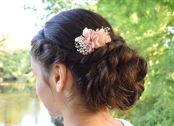 Mini peigne de mariage en fleurs stabilisées