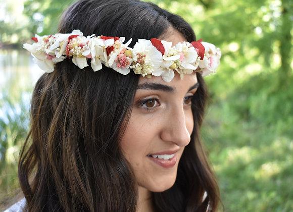 Ilona délicate couronne de mariage en fleurs éternelles