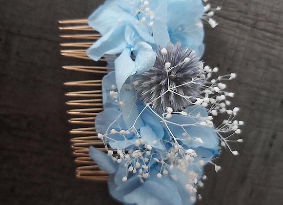 Peigne Célestine en fleurs stabilisées