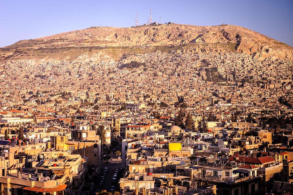 Der Berg Qasiyun in der syrischen Hauptstadt Damaskus