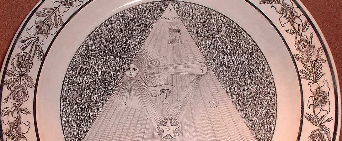 Egyptian Masonic Plate
