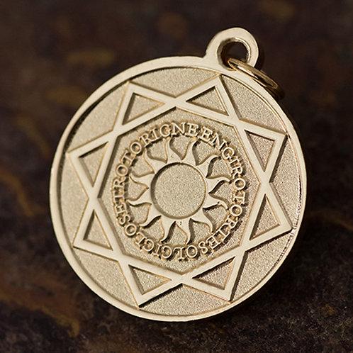 Médaille solaire du palindrome - Plaquée or