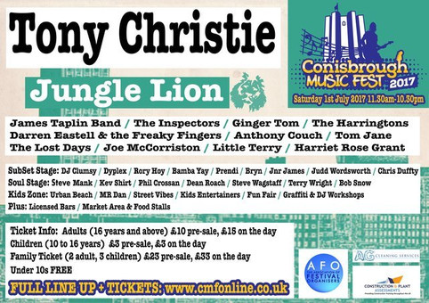 Rory Hoy Does Conisborough Music Festival - Saturday 1st July!