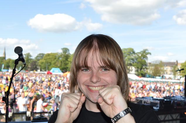DJing to 22, 000 People at the Official Tour De France Fan Park in Harrogate