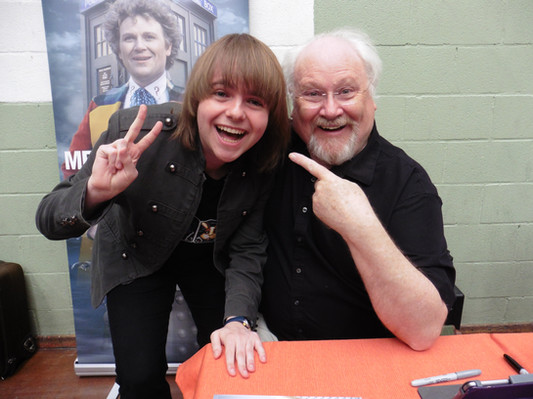 Me with Doctor Who No. 6 Colin Baker