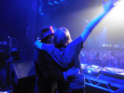 Performing with Craig Charles at the o2 ABC in Glasgow