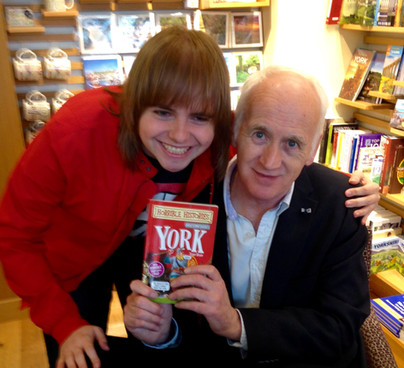 Me with Terry Deary - Author Of The Horrible Histories Books