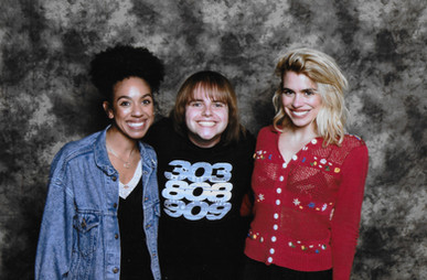 Me with Billie Piper and Pearl Mackie (BEST PHOTO EVER!)