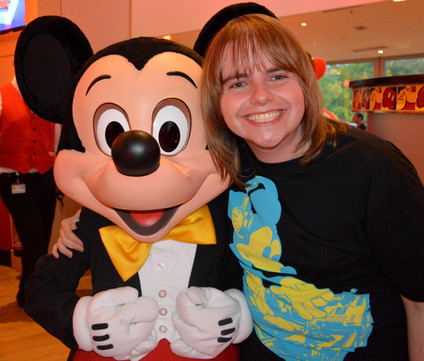 Me with a little known mouse called Mickey!