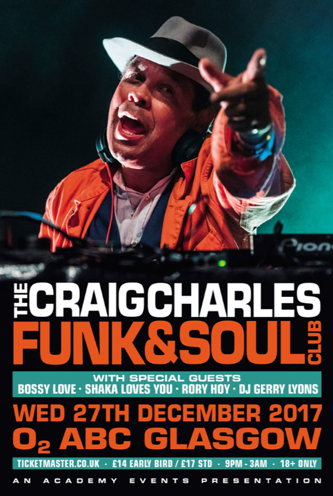 RORY DJ'S WITH CRAIG CHARLES THIS DECEMBER!