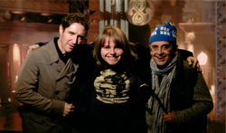 Me inside the TARDIS with Doctor Who's 7 and 8 (Sylvester McCoy and Paul McGann)