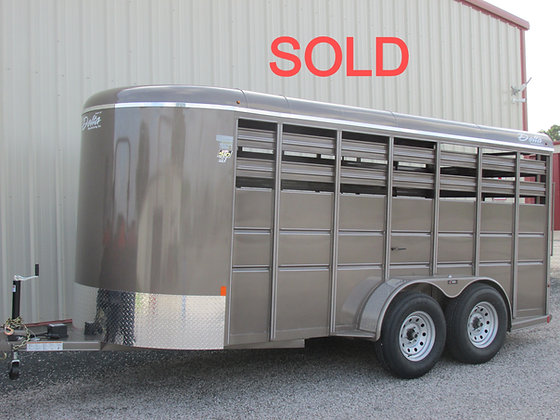 Delta 500 16' Arizona Beige livestock trailer