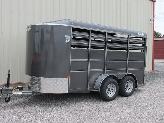 Delta 500 ES 14' Storm Grey livestock trailer