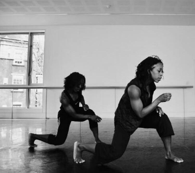 Alleyne Dance in rehearsal