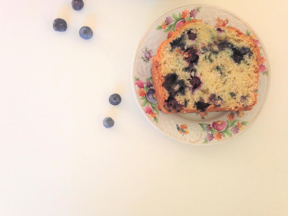 Lemon Blueberry Oat Loaf