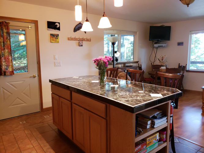 Kitchen Counter & Dining Area