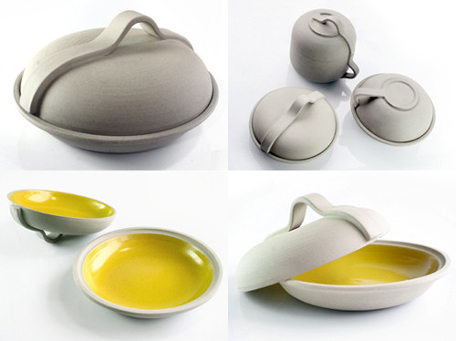 a selection by Angry Pixie of yellow ceramics