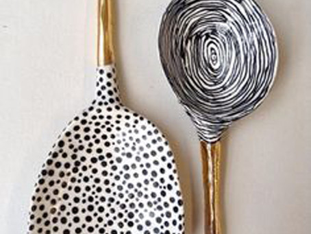 more hand drawn ceramics
