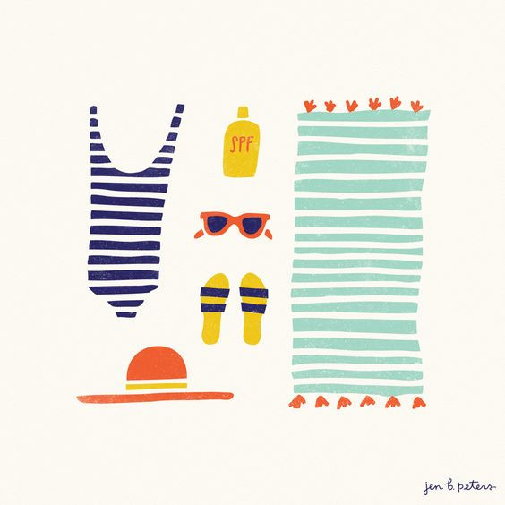 a selection by Angry Pixie of summery illustrations