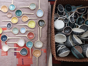 a selection by Angry Pixie of pretty spoons