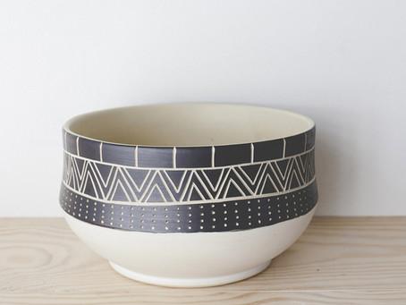 Ceramics + ethnic patterns