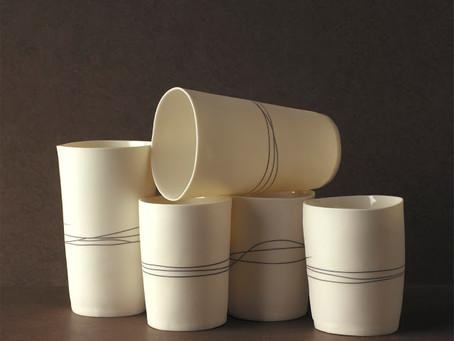 Delicate ceramics by Justine Allison