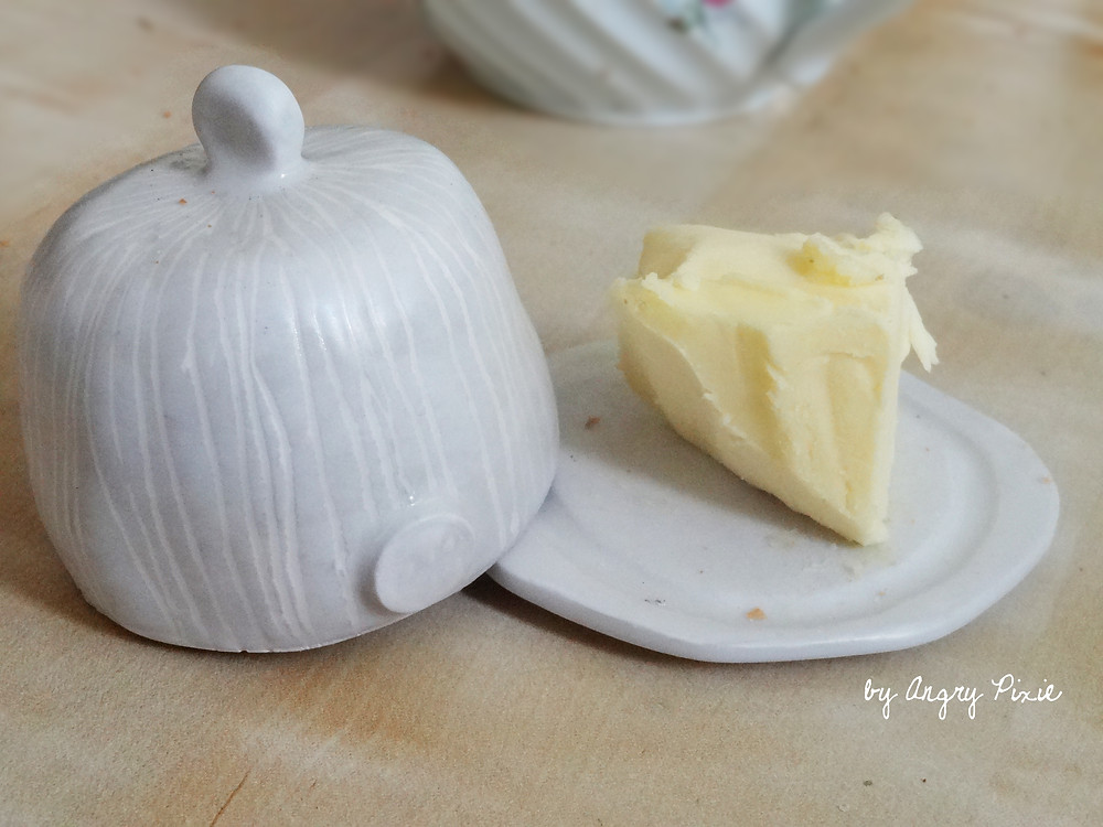 cute butter dish by Angry Pixie