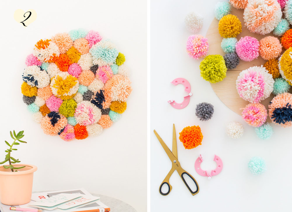 angry pixie loves pompoms - diy projects