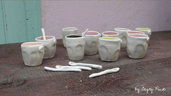 a selection of coffee cups