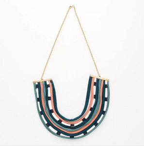DIY tshirt statement neckclace