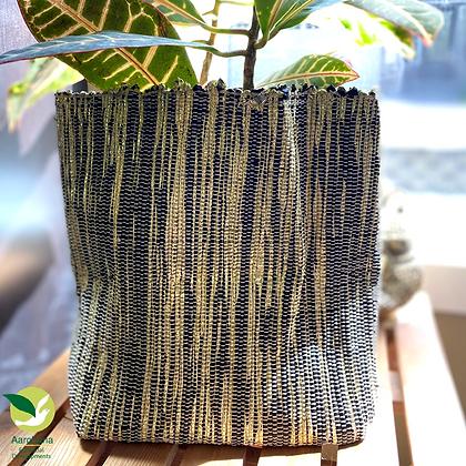 Indoor Grow Pot- Black Silver