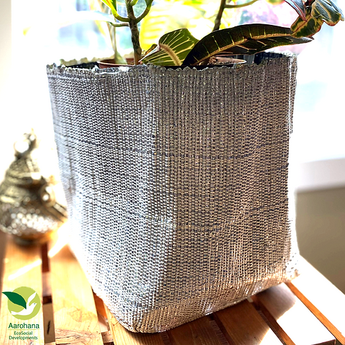 Indoor Grow Pot- Silver