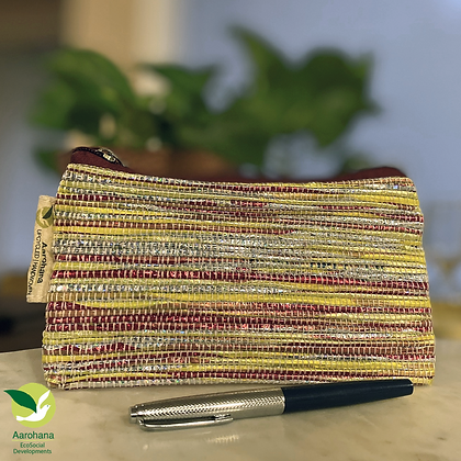 Pencil Case- Red Gold