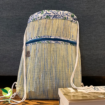 Backpack Blue with ethnic design