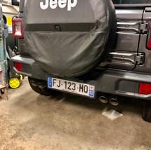 Ligne Inox  à valve clapet JEEP wrangler JL lesbumper.fr