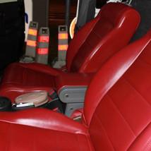 Sellerie cuir rouge Jeep Wrangler JK