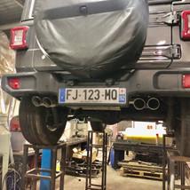 Quad Exhaust Jeep Wrangler JL 2.0T valve lesbumper