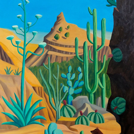 LOUSTAL : Exemple de Cactus dans le Nord du Mexique