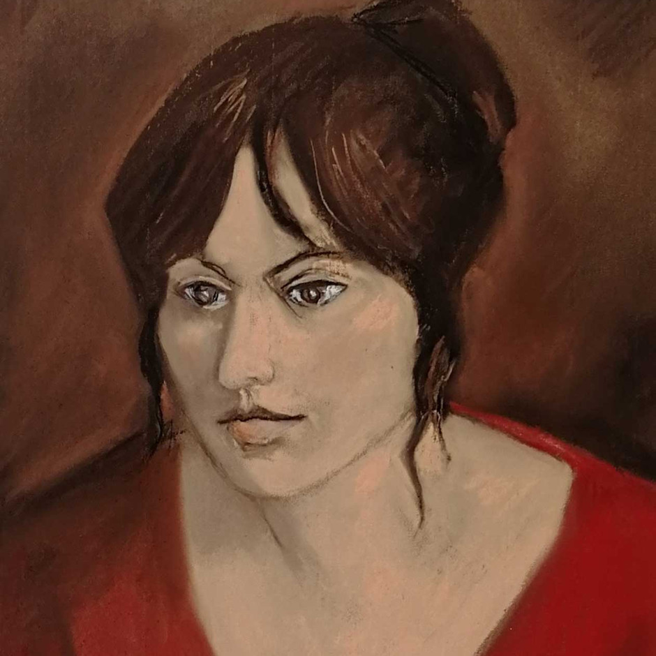 OTERO : Éva avec sa robe rouge