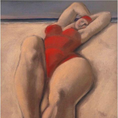MARIANO OTERO : Femme au maillot rouge