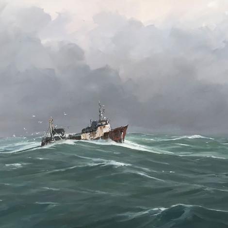 RUAIS : Chalutier en mer