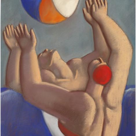 MARIANO OTERO : Deux baigneuses jouant au ballon