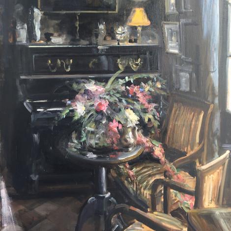 DEBUSSCHERE : Les fleurs au petit salon