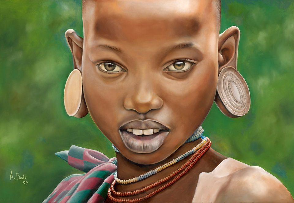 Abdul Badi Surma Girl, home page african art shop